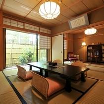 ■特別室【大輪(和室8+7.5畳)+檜の内風呂】 1室のみ落ち着いたお部屋です