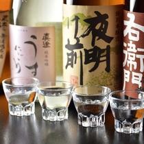 ■利き酒セットとお気に入りの地酒1合が選べます