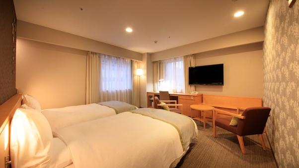 ◆喫煙ハリウッドツイン1名利用◆広々ベッドでゆったりステイ♪