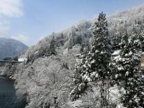 太平橋からの雪景色