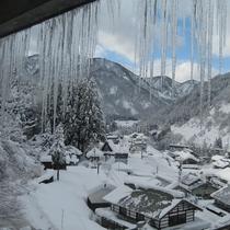 冬の客室からの景色