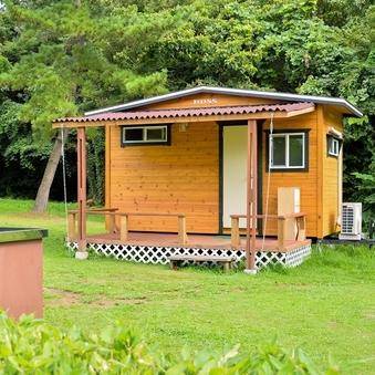 キャンプ場 キャビンサイト ※冷暖房完備