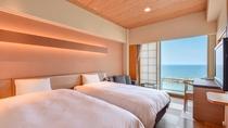 *【西館3・4・5階】角部屋ツイン:素足で寛げる旅館ならではの洋室ツインタイプ