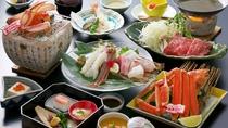 *【タグ付活松葉ガニお手軽会席】蟹の王様と呼ばれる松葉ガニ!淡白で上品な甘さを!