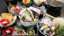 *【牡蠣づくし会席】ぷりっぷりの岩牡蠣をふんだんに使用した初夏にぴったりの会席。