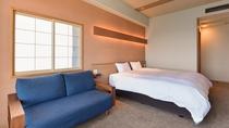 *【西館6・7階】角部屋ダブル:素足で寛げる旅館ならではの洋室ダブルタイプ