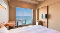 *【西館3・4階】波打ち際シングル:160cmのシモンズベッドで広々上質な寝心地。