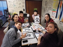 お習字教室/ Calligraphy class