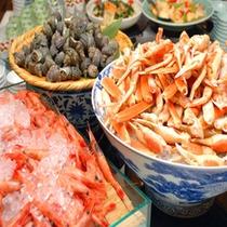 ディナーバイキング:蟹の食べ放題は大人気!(イメージ)