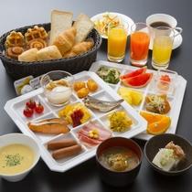 朝食~和洋バイキング盛付例(イメージ)