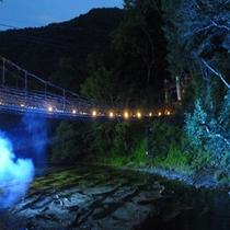 かずら橋の夜景(下方より)