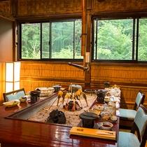 夕食処『平家隠れ館の個室」の一例
