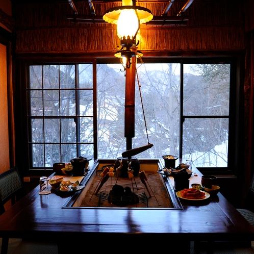 夕食処「平家隠れ館 個室の一例」