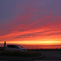 【夕日】海若の宿よりすぐのサンセットライン。ちょっとした南国気分を。