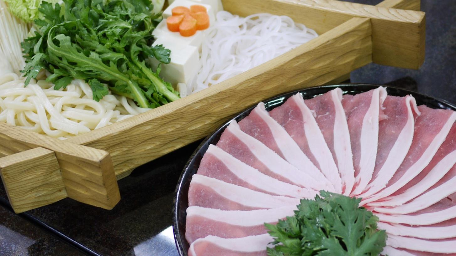 *富士桜ポークしゃぶしゃぶ会席一例/自信を持ってお勧めする美味しいお肉を是非お試し下さい!