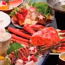 【かにづくし会席】 ※一度に4種類の味わい方が楽しめる、ぜいたくな蟹プラン!理!
