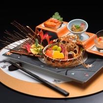 夕食一例 旬菜※季節・仕入れ状況によりメニューが変わります。