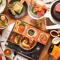 夕食一例 創作会席料理イメージ※季節・仕入れ状況によりメニューが変わります。