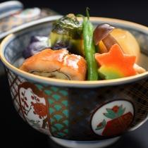 夕食一例 秋の煮物