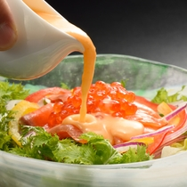 夕食一例 サラダ※季節・仕入れ状況によりメニューが変わります。