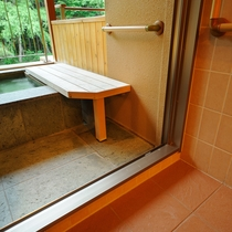UD(ユニバーサルデザイン)ルーム【2階】(禁煙) 露天風呂への入り口