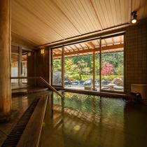 大浴場 喜久の湯 内湯夜間に男女の入れ替えとなります。掛け流しです。