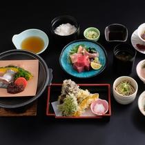 【ミニ会席一例】地元の山菜や川魚を使った、品数少なめでリーズナブルな会席