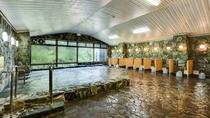 *大浴場2F。岩風呂の温泉。