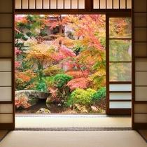 【秋/紅葉】別館客室からの紅葉風景(一例)