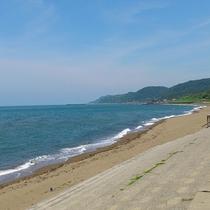 谷浜の浜辺