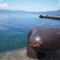■十和田湖の船着き場
