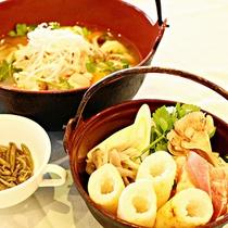 ■秋田名物「きりたんぽ鍋」が人気です。