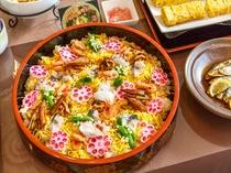 岡山名物「穴子ちらし寿司」(朝食)