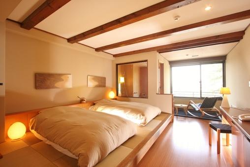 【猿沢池を望む】半露天風呂付客室/34平米/禁煙