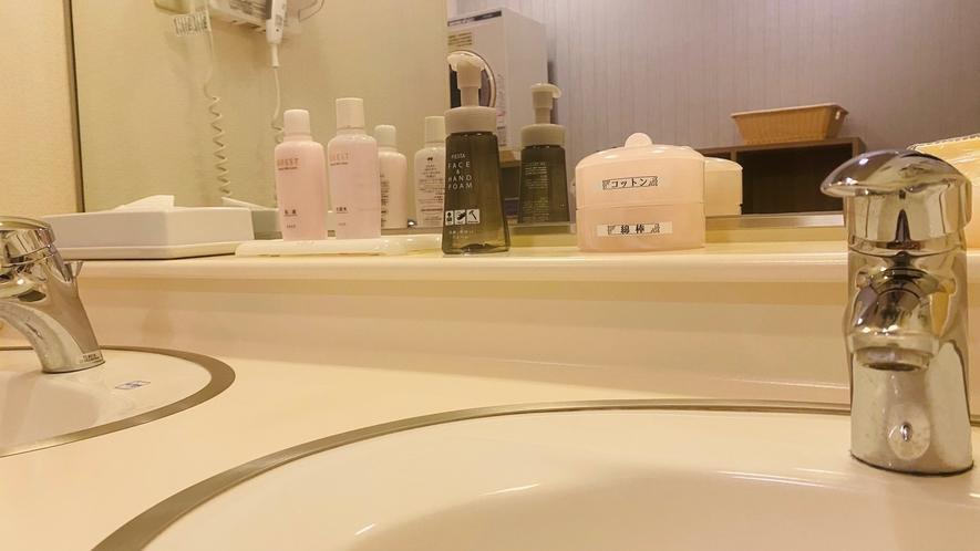 女性大浴場洗面台①