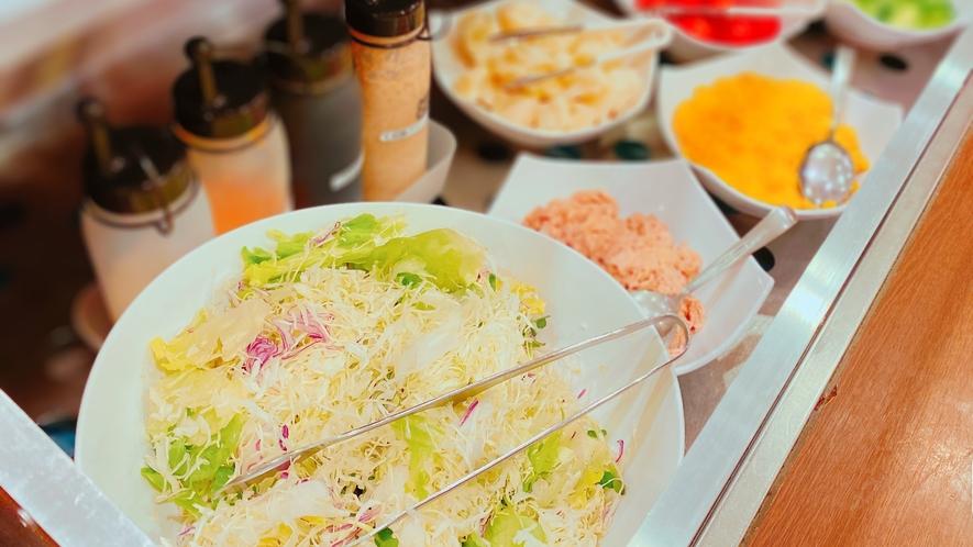 朝食レストラン花茶屋◇サラダは日替わりで5種のトッピングをご用意しております。