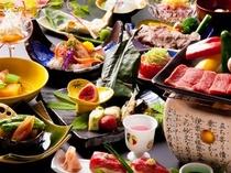 夏の『旬菜会席+飛騨牛ステーキプラン』の一例♪