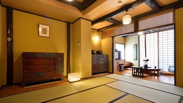 ■お部屋から滝が望めるせせらぎ館■大笹宿(露天風呂付客室)