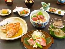 金目鯛の鯛味噌焼&鮑つきプラン