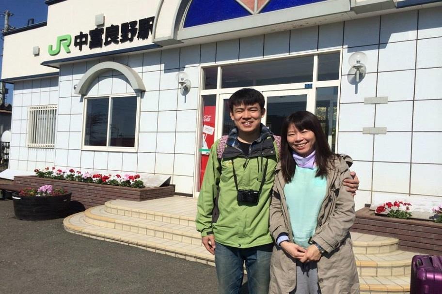 【お客様】中富良野駅のカップル
