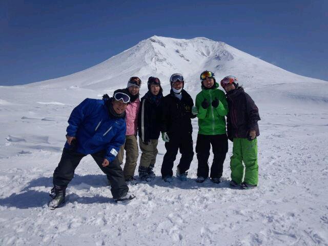 【バックカントリースキー】晴天の旭岳での一枚