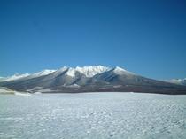 【冬】雪の十勝岳連峰