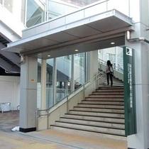 ★名掛丁連絡通路の行き方[3]★脇には、エレベーターも設置されています♪