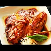 新鮮地魚を使った料理の一例
