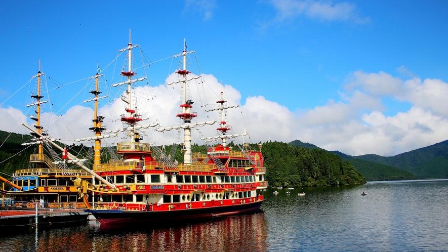 【芦ノ湖】子供も大人も楽しい海賊船