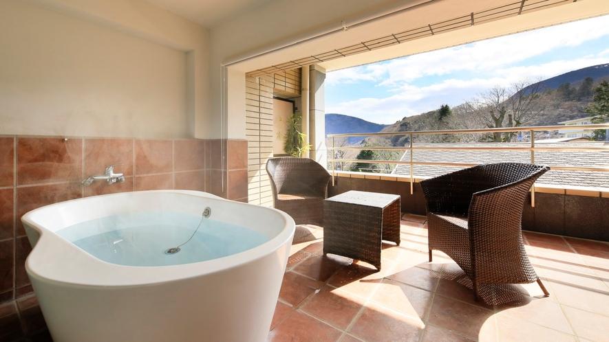 【客室露天風呂付】ツインルーム(一例)/箱根の自然でリフレッシュ