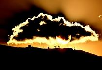 釜臥山付近の夕陽