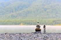 宇曾利湖 祈りの石塔
