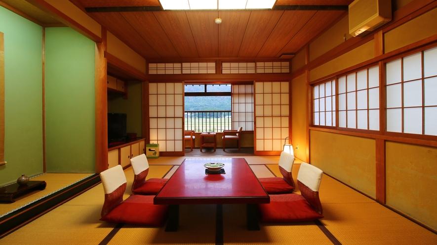 【客室】トイレ付12畳客室 広々とした空間に贅沢な設え