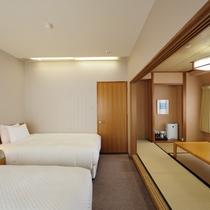 最上階ジャパニーズモダン 30.0平米・スランバーランド社製120cm幅ベッド+布団3組